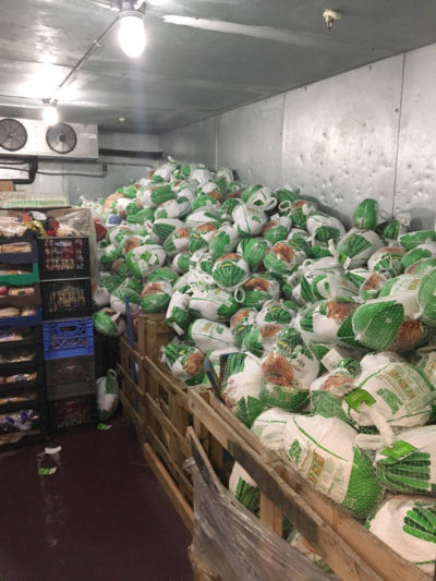 Donated Frozen Turkeys