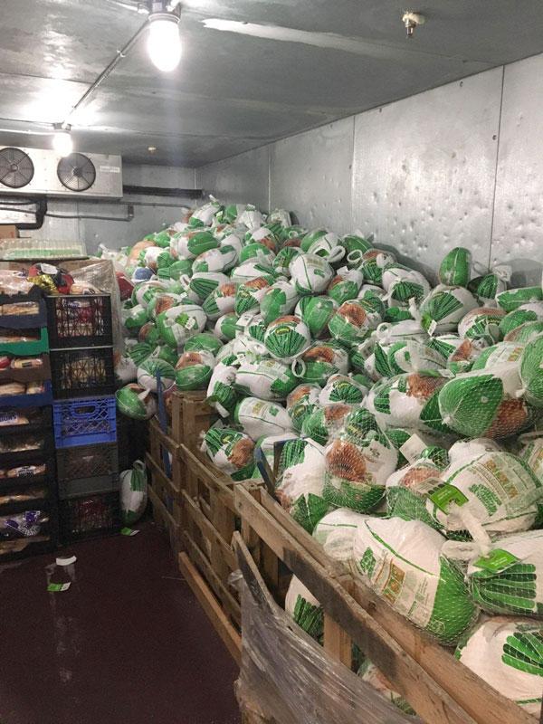 Donated Frozen Turkeys