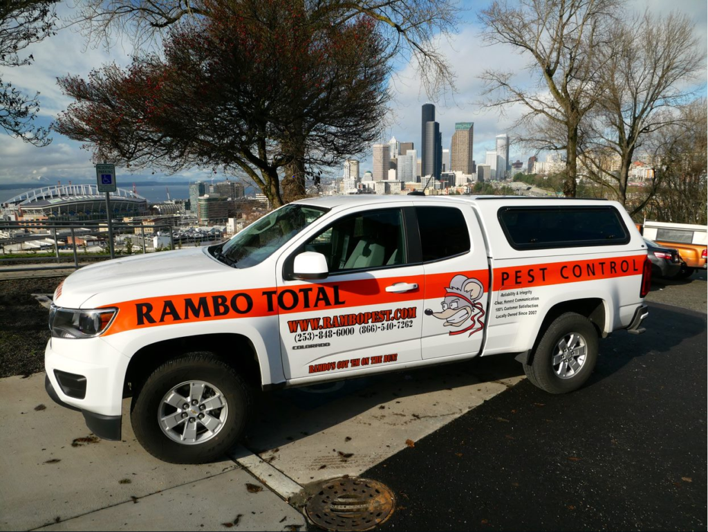 Rambo's service vehicle in Seattle, WA