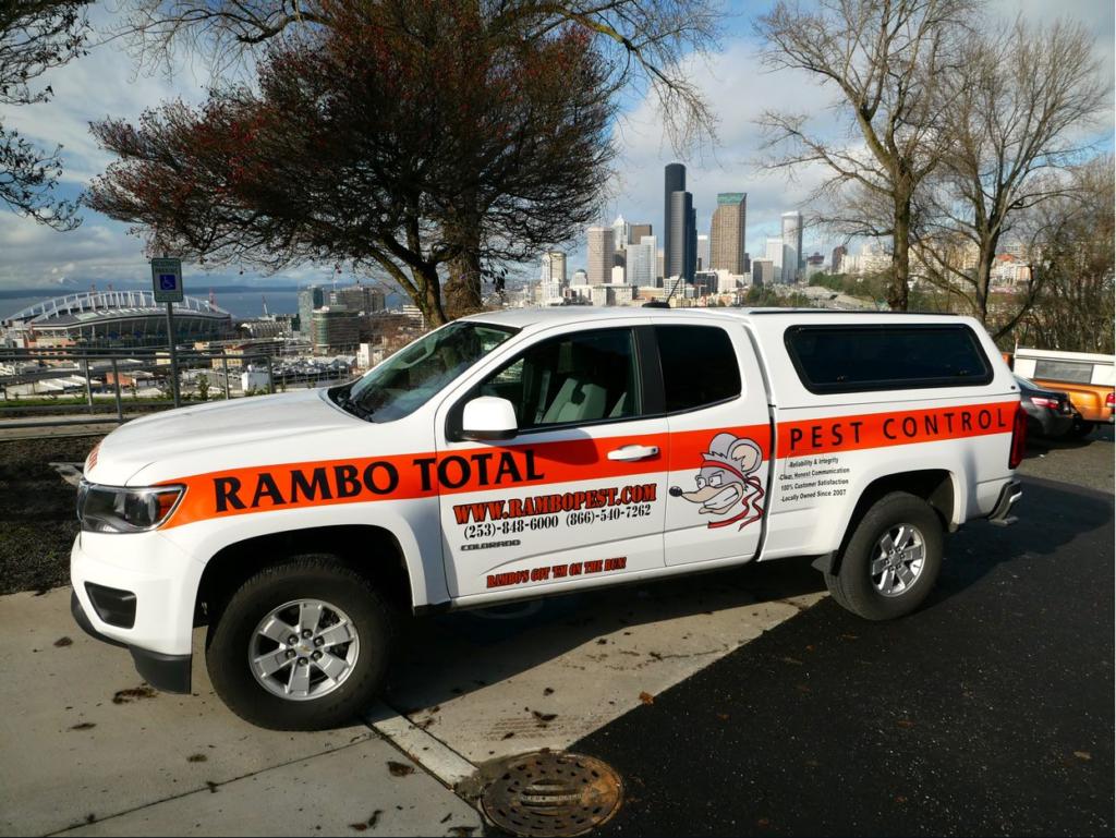 Rambo's service vehicle in Seattle, WA