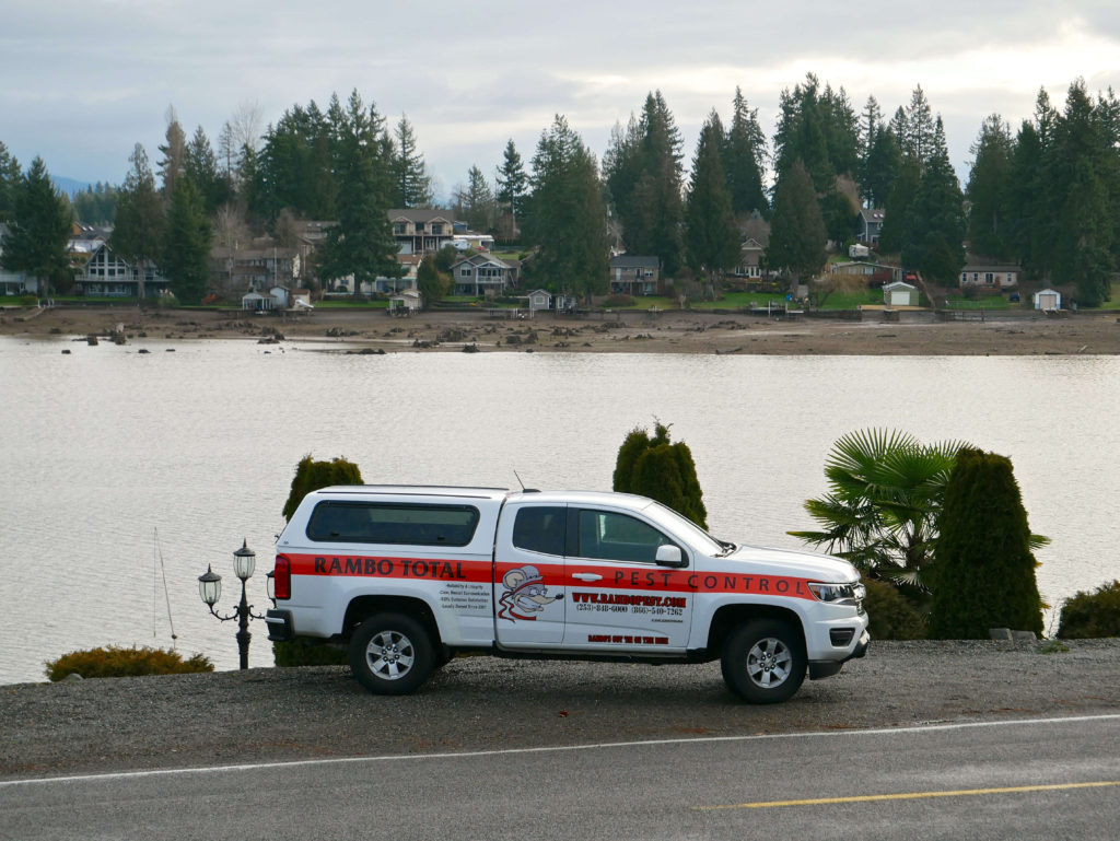 Rambo's service vehicle in Lake Tapps, WA
